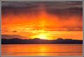 Fiery Great Salt Lake Sunset